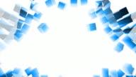 Exploding Block Wall (Blue Light Rays) video