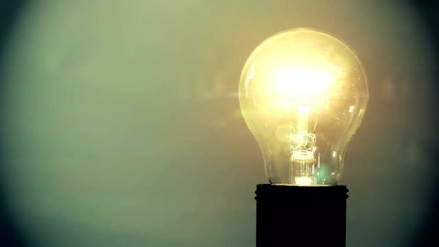 Exploding light bulb video