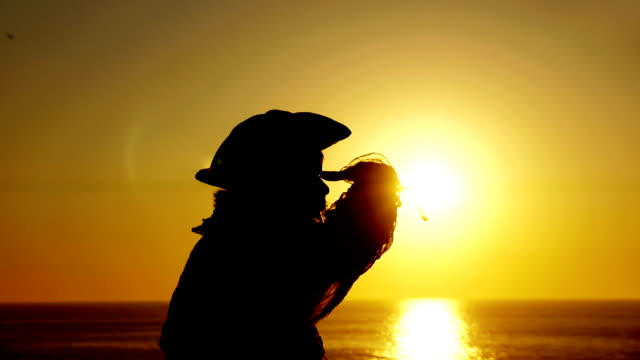 Explorer With Spyglass Silhouette (HD) video