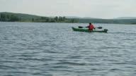 Exploring Lake with Kayak video