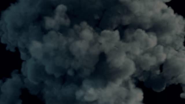 Explosion blast element top view. 3D rendering video