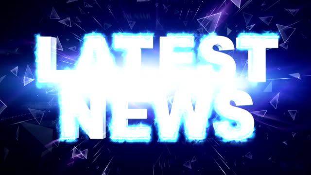 LATEST NEWS Explosion Text and Keywords Animation, Rendering, Background, Loop video