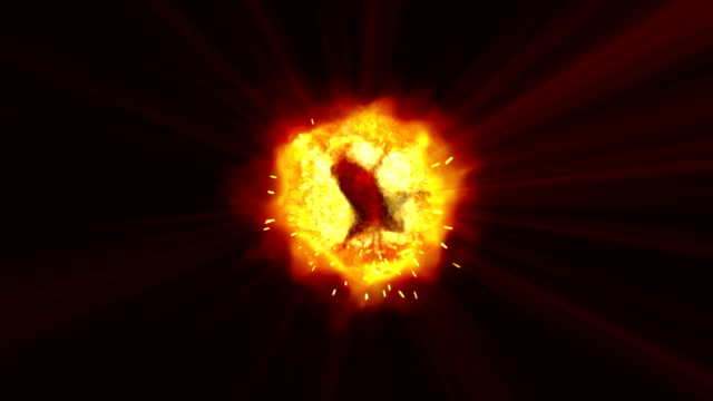 explosions in space 4k video