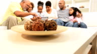 Extended Ethnic Family Wireless Tablet Home video