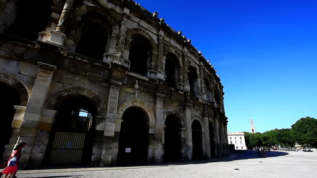 Exterior of Nimes Coliseum video