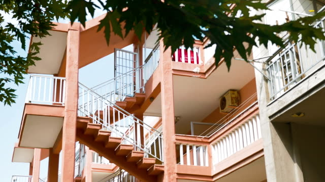 Exterior Stairs between Levels of Multi-Storey House video