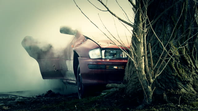 HD: Extinguishing Burning Car video