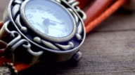 Extreme Close Up of Beautiful Woman's Watch. Second Hand Dial video