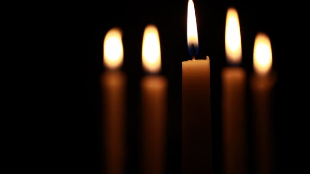 Extreme Close up of Candle with shallow DOF video