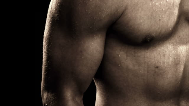 HD - Extreme close up of mans bicep video