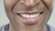 Extreme Close-Up of a Smile of an Afro-American Man video