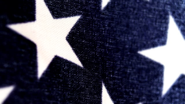 Extreme close-up of an American flag video