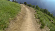 Extreme downhill biking in the mountains video