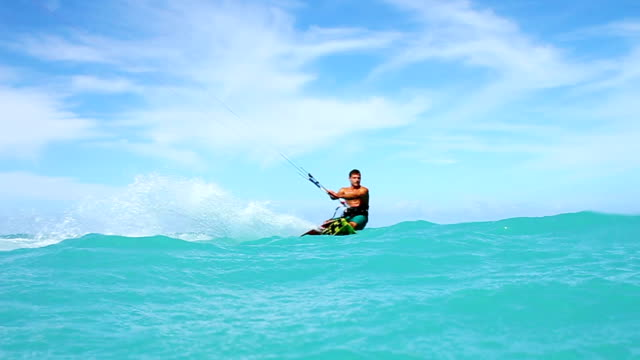 Extreme Kite Surfing In Ocean video