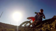 Extreme Motocross Rider On Dirt Track video