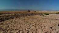 extreme wide shot of motobike in desert video