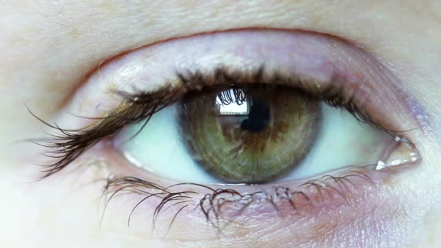 Eye close up video