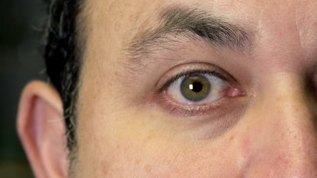 Eye close up with cornea size changing  alpha channel included video