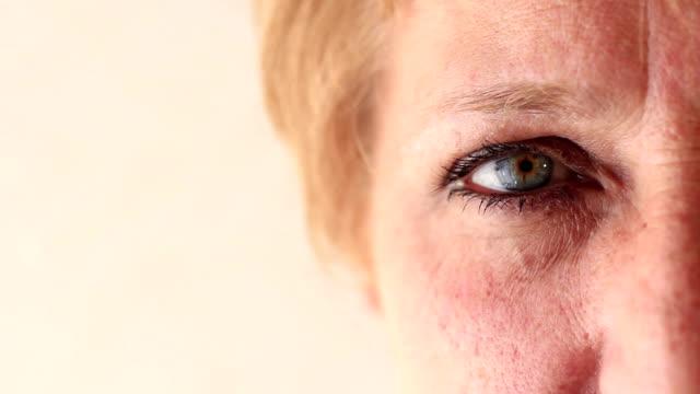 Eye of a mature woman video