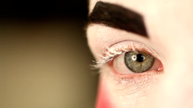 Eye with make up. video
