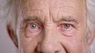 Eyes of a senior Caucasian man video