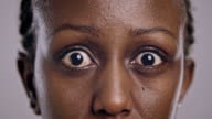 Eyes of an angry African-American woman video
