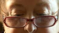 Eyes of senior woman video