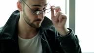 Eyewear male model video