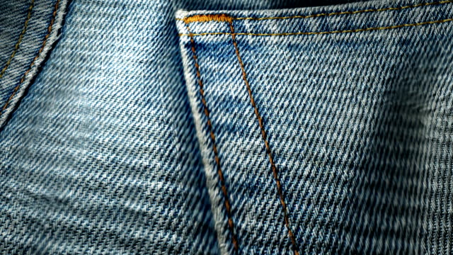 Fabric denim jeans texture video