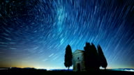 Fabulous Starry Sky. Time Lapse video