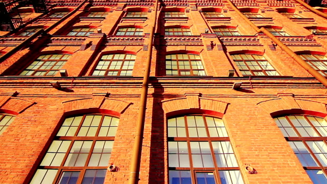 Facade of a red brick building video