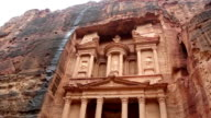 Facade of Treasury in Petra, Jordan. video