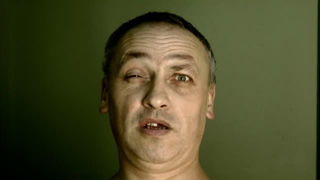 face, eyes, grimace video