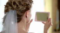 face of bride in  mirror video