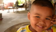 Faces of Asian boy video