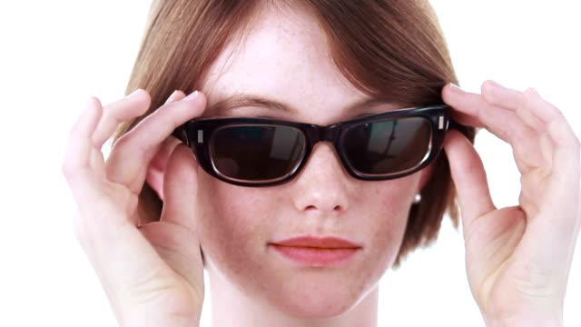 Facial Glasses girl video