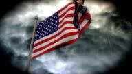 Facing Bad Weather: USA Flag (HD) video