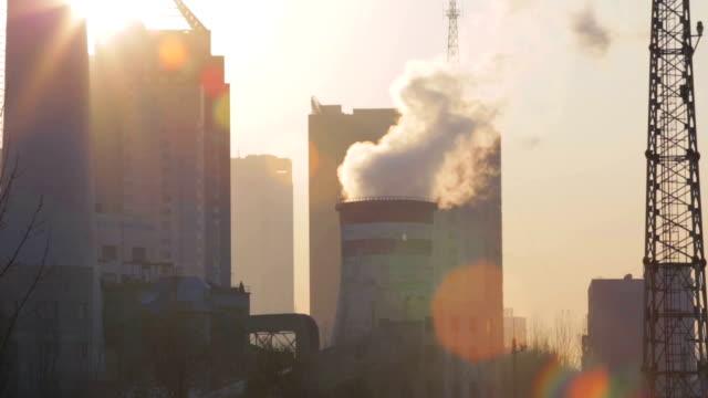 Factory chimney video