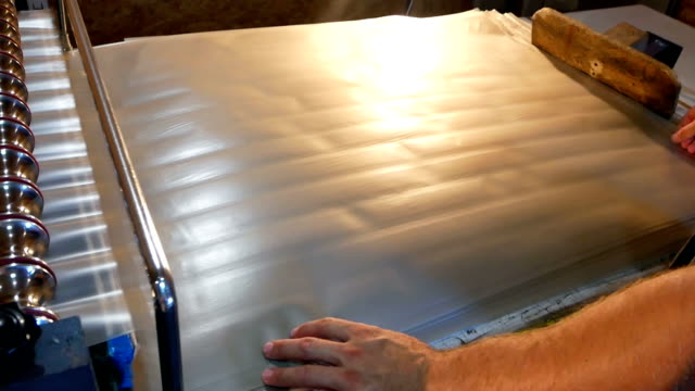 Factory conveyer hand work video