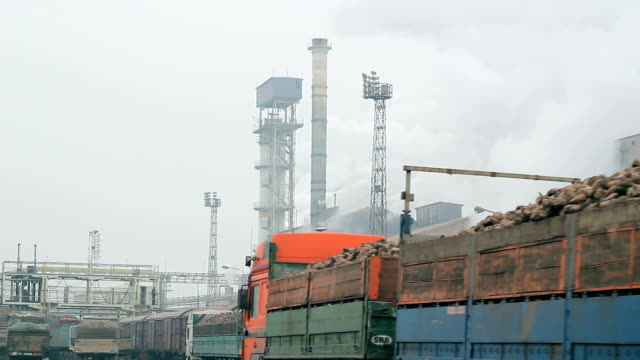 Factory Exterior - Industrial Chimneys video