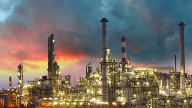 Factory - oil and gas industry, Time lapse video