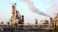 Factory Smoke stack - Oil refinery - petrochemical plant video