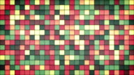 faded color glowing glass mosaic loop video