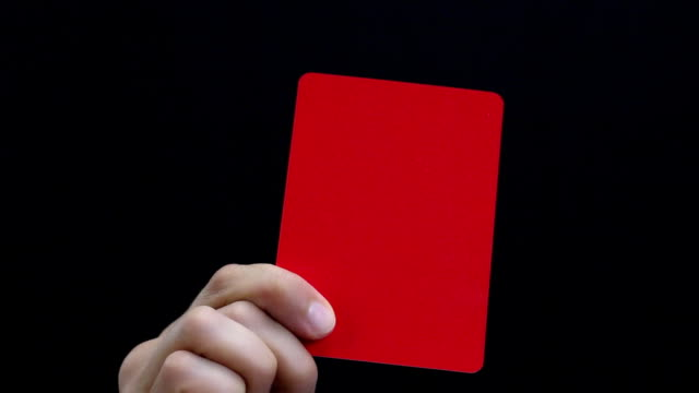 Fair Play. Red Soccer Penalty card. video