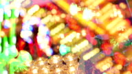 Fairground, funfair colored lights composite. video