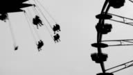 Fairground silhouettes. Two shots. video