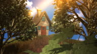 fairy tale house hidden in forest video