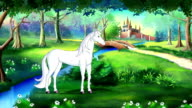 Fairy Tale Unicorn in a Magical Forest video