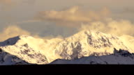 Fall Color Snow Capped Peak Alaska Range Fall Autumn Season video