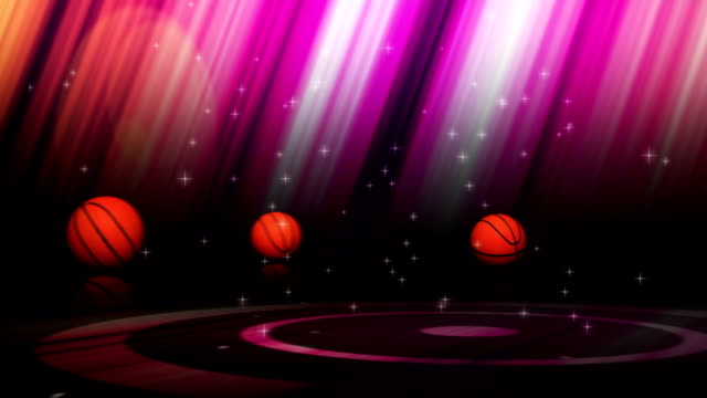 Falling Basket Ball and News Text video